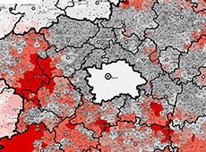 Navigační obrázek geoinformačních služeb