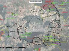 Chráněná území ve vymezeném území IPRÚ Zlín