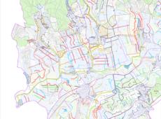 Hlavní výkres územní studie krajiny OPR Kyjov