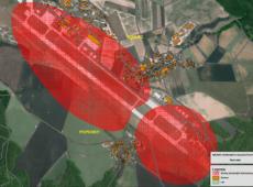 Návrh ochranného hlukového pásma kolem letiště v Náměšti