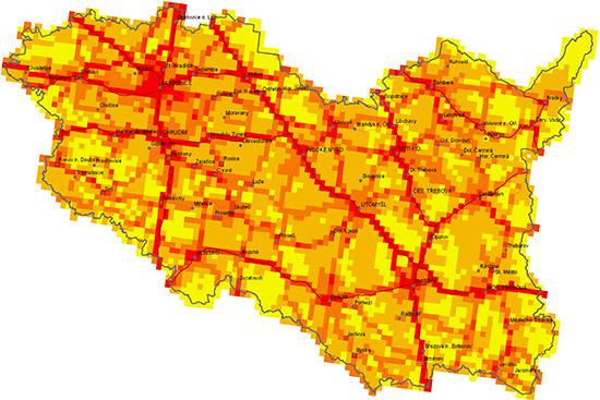 Analýza kvality ovzduší: graf emisí těkavých organických látek