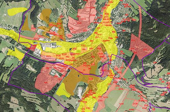 Hodnocení vlivů na životní prostředí a soustavu Natura 2000:: mapa půdního fondu