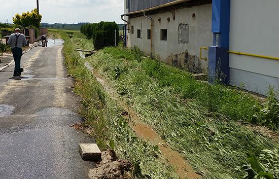Odtokové poměry: zaplavení obce