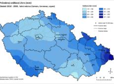 Predikce srážek v letních měsících 2010–2039