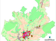 Hlavní výkres územního plánu Moravského Berouna